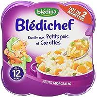 Blédina Blédichef Risotto aux Petits Pois/Carottes 2 x 230 g - Pack de 4