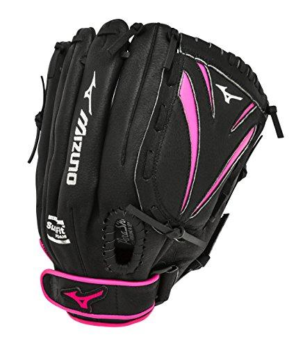 Mizuno gpp1155F1Finch Prospect Softball Handschuh, 312094.F913.11.1150, schwarz/rosa, 11.5 inches -