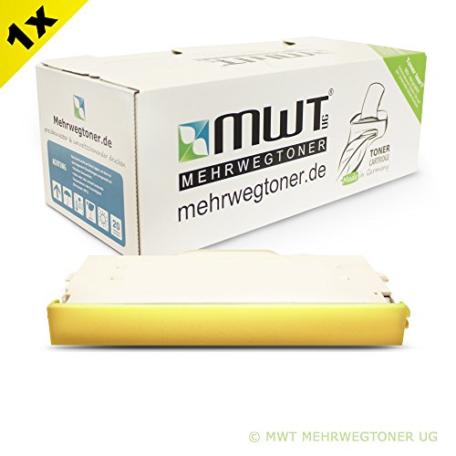 1x MWT Toner für Ricoh Aficio SP C 210 sf ersetzt 402100 DT140YLW Gelb Yellow -
