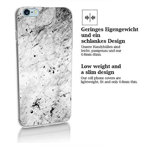 finoo | iPhone 6 Plus / 6S Plus Hard Case Handy-Hülle mit Motiv | dünne stoßfeste Schutz-Cover Tasche in Premium Qualität | Premium Case für Dein Smartphone| Weißer Marmor Weißer Marmor