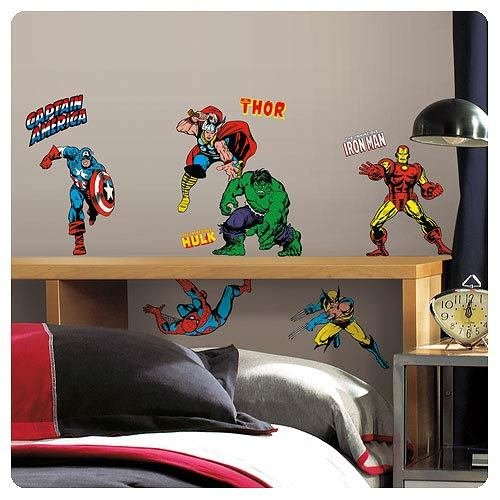 Roommates lot de 32 stickers marvel classic repositionnables