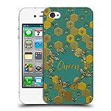Head Case Designs Bienen Koenigin Gestickter Druck Zitate Ruckseite Hülle für iPhone 4 / iPhone 4S