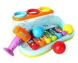 GoStock Baby Musical Spielzeug Kunststoff Regenbogen Xylophon Musikinstrument mit Kugeln und Hammer für Kinder, Jungen Musikspielzeug und Mädchen ab 1, 2, 3 Jahre