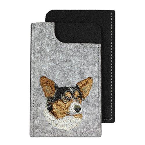 ArtDog Ltd. Strickjacke Welsh Corgi, EIN fühlte Telefon Fall mit Einem gestickten Bild von Einem Hund