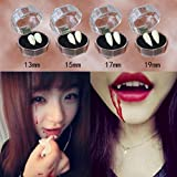 Koly Halloween décoration Les dents de Zombie Vampire, 2017 Crazy Devil tooth Bonnets Fangs Tringles pour fêtes de Halloween (17MM)