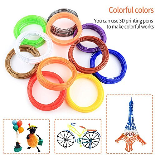 3D Stift Filament PLA, 20 Farben, je 10M – 3D Pen PLA Filament 1,75mm, 3D Stift Farben Set für ODRVM, Tecboss, Lovebay, 3D Stift and 3D Druck Stift - 5