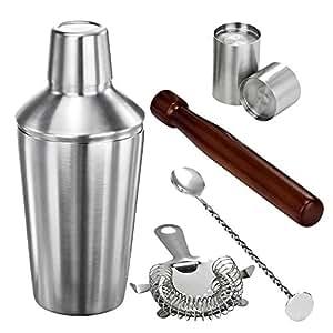 VonShef Kit cocktail Manhattan - shaker 56 cl + 5 accesoires