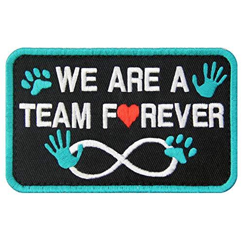 Aufnäher für Hunde/Geschirre, bestickter Verschluss mit Haken und Schlaufe, Emblem Team Forever (Hunde Kostüm Selbstgemacht)