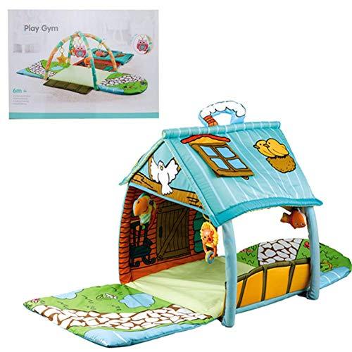 ZXL Tappeto Tunnel House Tappeto da Gioco Big House Coperta per Bambini Tappetino per Bambini Morbido Tappetino per Bambini Palestra in Cotone Tappeto strisciante