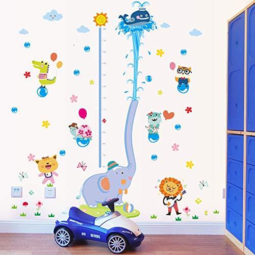 Textur Einfügen (ZWXDMY Höhenmessung Wandaufkleber,Cartoon Elefant Spritzwasser Wal Lion Abnehmbare Einfügen Wand Aufkleber Für Kinderzimmer Kindergarten Dekorative Kunst Poster Wandbild)