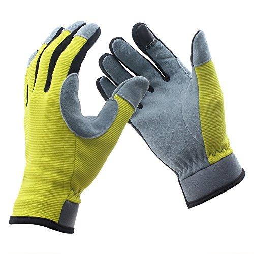 COFIT Arbeitshandschuhe, Touchscreen Handschuhe für Gartenarbeit, Hausarbeit, Fahrzeugreparatur, Angeln, Malerei, etc. - XL (Gewebe Trocknende Schnell)
