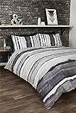 Krawatte gefärbter Stil bewertet Streifen schwarz Leder weiß Baumwollmischung Einzelbett Bettbezug