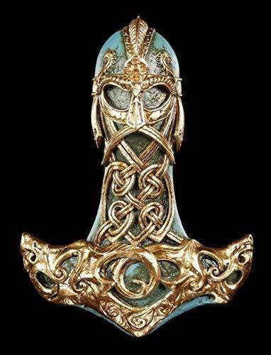 Thor's Hammer Wandrelief | Wikinger Deko Figur Thor Gott | Mjölnir Alchemy The Vault