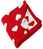 #8: Brandonn Fashions Heart Knitted Baby Blanket 100cm x 80cm (Red & White)
