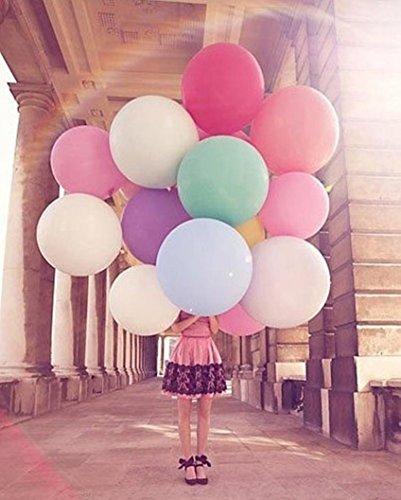 (Upxiang 5 Stück Ballon Riesiger Ovaler Luftballon - 36 Zoll 90 cm - Großer Ballon - Groß Für Hochzeit Party Dekoration (Grau))