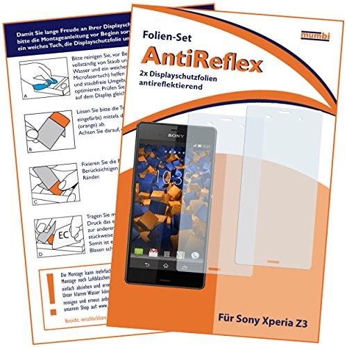 2 x mumbi Displayschutzfolie Sony Xperia Z3 / Xperia Z3 Dual Schutzfolie AntiReflex matt