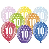 Kleenes Traumhandel 10th Birthday 6 Balloons 30 cm Children