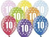 12 Luftballons 30 cm zum 10. Geburtstag - Kindergeburtstag Ballon - Kleenes Traumhandel®