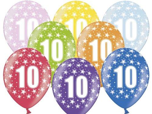 Preisvergleich Produktbild 6 Luftballons 30 cm zum 10. Geburtstag - Kindergeburtstag Ballon - Kleenes Traumhandel®