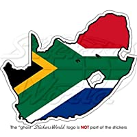 "SOUTH AFRICA S.African Map-Flag 4.3"" (110mm) Vinyl Bumper Sticker, Decal"