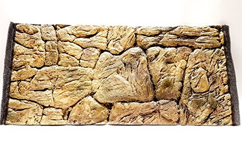 Aqua Maniac 3D Aquarium-Hintergrund, dünn Rock Beige, Polyresin (nicht Schaumstoff), 1-2cm dick, Einzigartige Aqua Decor - Fisch-aquarium-rock-hintergrund