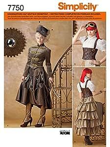 Simplicity S7750.R5 Patron de Couture Costume Steampunk