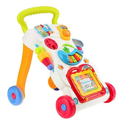 DFSSD Interactive Baby-Wanderer mit Sounds, justierbare Baby-Wanderer für Babys, 6 Monate Plus Perfekt für alle Phasen des Spiels, vom Sitzen zum Stehen zum Gehen