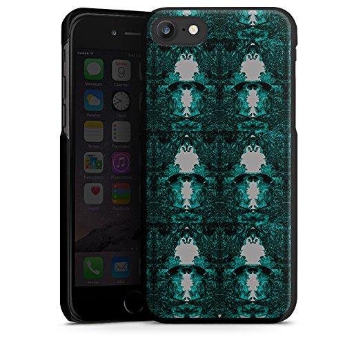 Apple iPhone X Silikon Hülle Case Schutzhülle Thomas Hanisch Ornamente Schwarz Weiß Hard Case schwarz