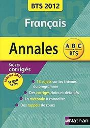 ANNALES BTS 2012 FRANCAIS