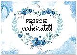 50 gelochte Ballonflugkarten Hochzeit für Wünsche an Brautpaar liebevolle extra leichte Ballonkarten für weiten Flug Herz mit Blume