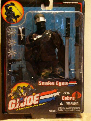 Joe 12-zoll-gi (G.I.JOE A REAL AMERICAN HERO VS COBRA SNAKE EYES 12 INCH ACTION FIGURE by G. I. Joe)