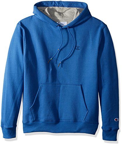 Champion Men's Powerblend Fleece Pullover Hoodie Honorable Blue