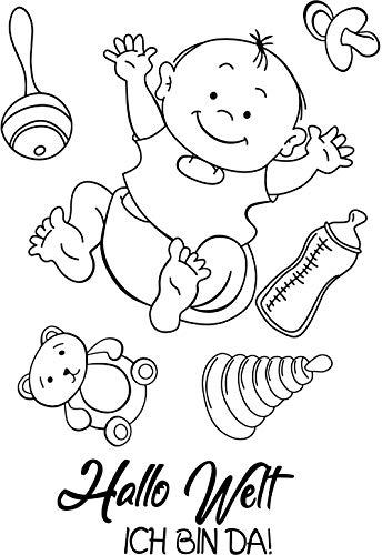 Hallo Baby transparent klarer Silikonstempel/Siegel für DIY Scrapbooking/Fotoalbum dekorative klare Stempelblätter W1105 (Baby-siegel)