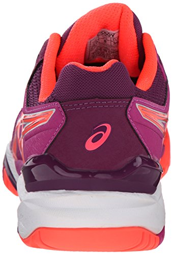 Asics Gel Resolution 6 Synthétique Chaussure de Course Berry-Flash Coral-Plum