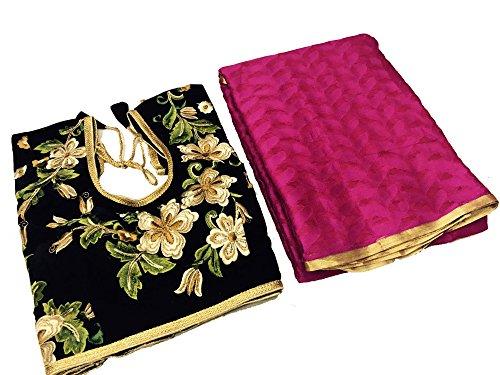 Clickedia Silk Saree (Patola Dark Pink Saree_Dark Pink)