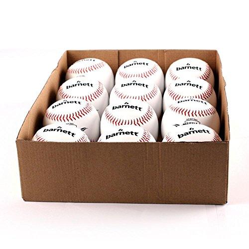 "TS-1 Baseball Ball Training Baseball, Grösse 9""(inch), Farbe weiß, 12 Stück (1 Dutzend)"