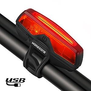 51kEsRLvgXL. SS300 Luci Posteriori Bici LED USB - MOREZONE Ricaricabile Fanale Posteriore Bici, Luce Bicicletta 5 Modalità di Luce, Adatto per TUTTE le Biciclette (MTB, Moto da Strada) e Caschi