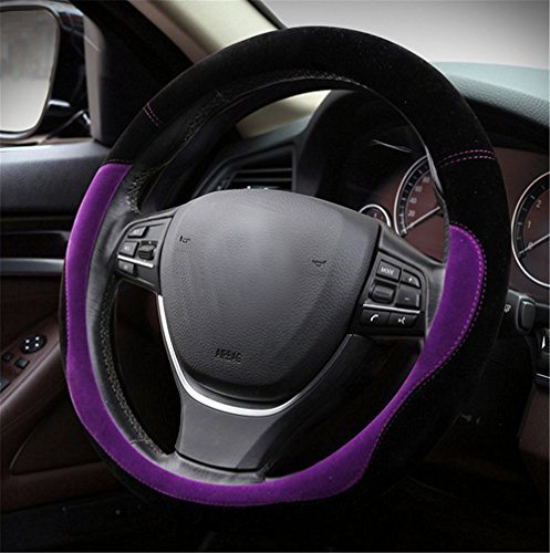 gomass-automotive-winter-plush-flocking-steering-wheel-covers-universal-15-inch-black-purple