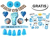 Generic Baby Shower Party Boy Dekoration Set + Gratis Fotorequisiten