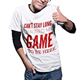 Cant Stay Long Paused My Game Funny Gaming T Shirt Gamer Mens Boys T-Shirt