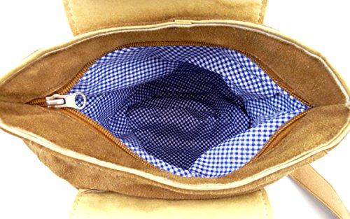 Trachtentasche Dirndltasche Lederhosen-Tasche Umhängetasche Leder Braun - Bild 2