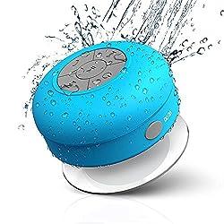 Elv Portable Waterproof Bluetooth Wireless Stereo Shower Speakers,Kid-friendly - Best for Bath, Pool, Car, Beach, Indoor/Outdoor Use,(Blue)