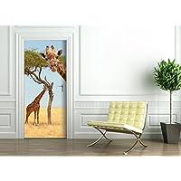 Poster Autoadesivo porta e pareti - GIRAFFA - murale foglio di porta