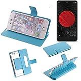 K-S-Trade Flipcover für Sharp Aquos C10 Schutz Hülle Schutzhülle Flip Cover Handy case Smartphone Handyhülle blau