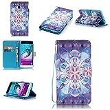 Samsung Galaxy J3 Hülle im Bookstyle, Linvei ®3D-Effekt PU Leder Flip Wallet Case Schutzhülle...