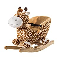 HOMCOM Children Kids Rocking Horse Toys Giraffe Seat Belt Toddlers Baby Toy Gift Brand New