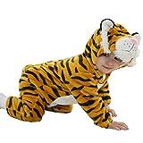IFLIFE Unisexo Bebé Pijama Enteros Traje de Cosplay Animal (100#(19-24 meses), Tigre)