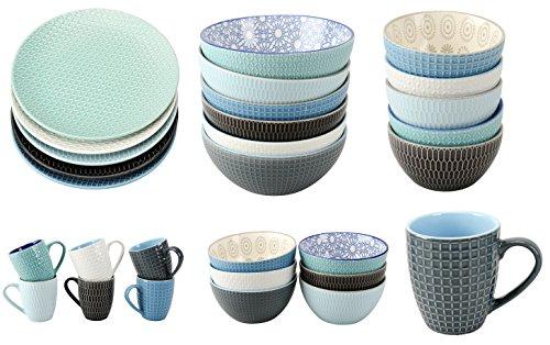 Geschirrserie INFINITY Kombiservice Keramik Porzellan Serviere Geschirr Kaffeegeschirr Neu (Cappuccino cup)
