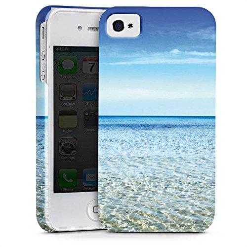 Apple iPhone X Silikon Hülle Case Schutzhülle Horizont Meer Urlaub Premium Case glänzend