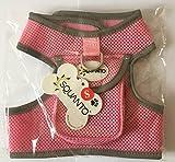 squanto verhindert Zerren Hundegeschirr mit handlichem Klettverschluss verschließbare Tasche